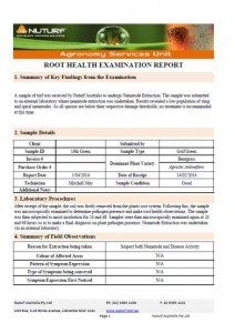 Root Health Report